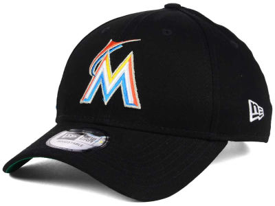 Miami Marlins New Era MLB Banner Patch 9FORTY Cap