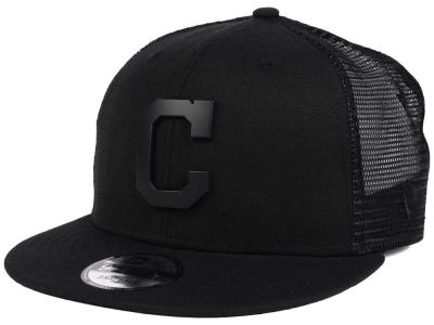 Cleveland Indians New Era MLB Matte Metal Trucker Cap