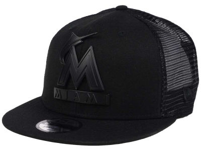Miami Marlins New Era MLB Matte Metal Trucker 9FIFTY Snapback Cap