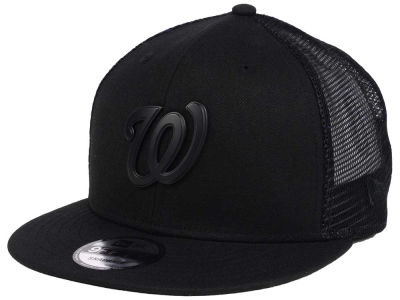 Washington Nationals New Era MLB Matte Metal Trucker Cap