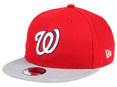 Washington Nationals New Era MLB Kids Heather Vize 9FIFTY Snapback Cap