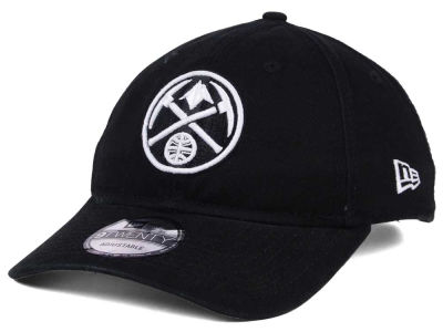 Denver Nuggets New Era NBA Black White 9TWENTY Cap