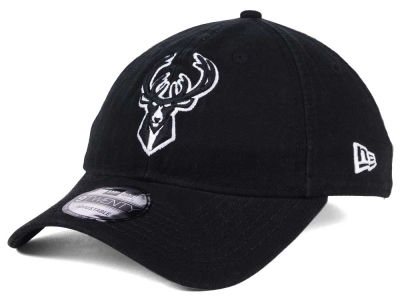 Milwaukee Bucks New Era NBA Black White 9TWENTY Cap