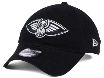 New Orleans Pelicans New Era NBA Black White 9TWENTY Cap