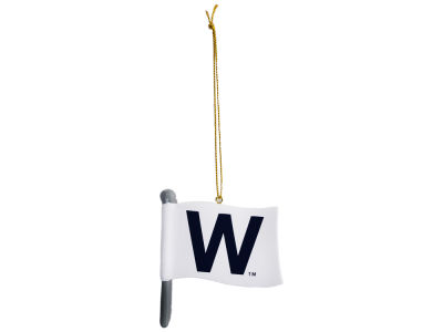 "Chicago Cubs ""W"" Flag Ornament"