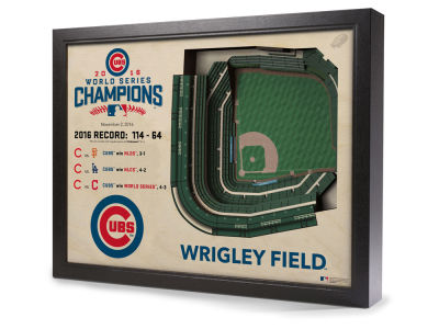 Chicago Cubs MLB WS Champs 16 Stadium View Wall Art