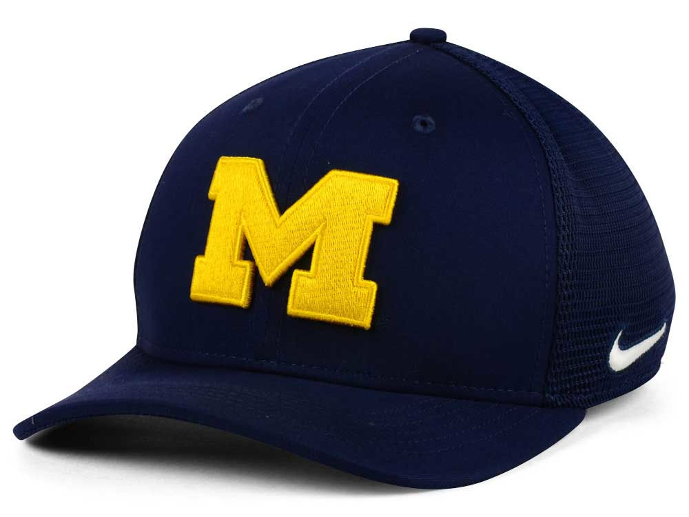 917d6792 sale michigan wolverines nike ncaa aero bill mesh swooshflex cap 0d030 e83ed