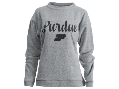 Purdue Boilermakers Pressbox NCAA Women's Comfy Terry Sweatshirt
