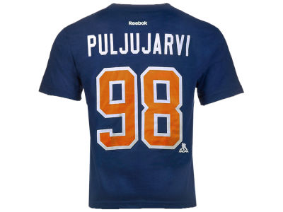 Edmonton Oilers Jesse Puljujarvi Reebok NHL CN Youth Player T-Shirt