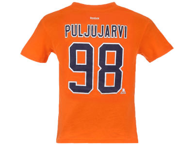 640a1a264663 Edmonton Oilers Jesse Puljujarvi Reebok NHL CN Kids Player T-Shirt