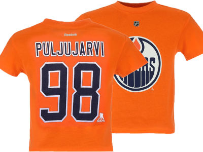 Edmonton Oilers Jesse Puljujarvi Reebok NHL Infant Player T-Shirt