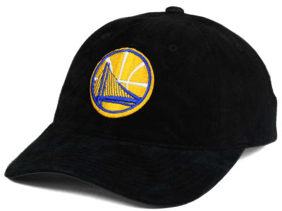 Golden State Warriors Mitchell and Ness NBA Pig Suede Dad Strapback Hat