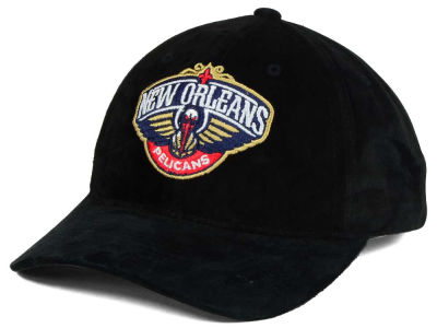 New Orleans Pelicans Mitchell and Ness NBA Pig Suede Dad Strapback Hat