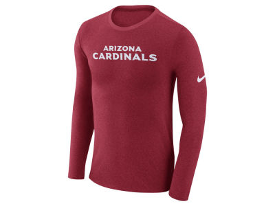 Arizona Cardinals Nike NFL Men's Marled Wordmark Long Sleeve T-Shirt