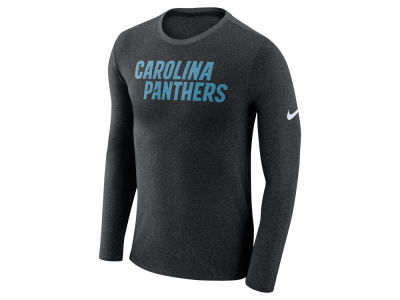 Carolina Panthers Nike NFL Men's Marled Wordmark Long Sleeve T-Shirt