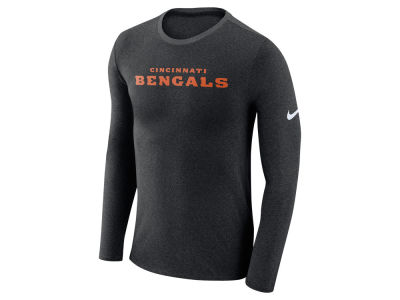 Cincinnati Bengals Nike NFL Men's Marled Wordmark Long Sleeve T-Shirt