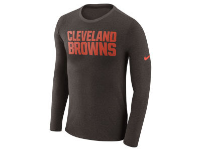 Cleveland Browns Nike NFL Men's Marled Wordmark Long Sleeve T-Shirt