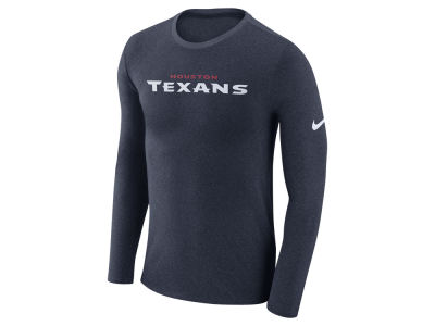 Houston Texans Nike NFL Men's Marled Wordmark Long Sleeve T-Shirt
