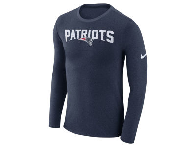 New England Patriots Nike NFL Men's Marled Wordmark Long Sleeve T-Shirt
