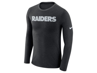 Oakland Raiders Nike NFL Men's Marled Wordmark Long Sleeve T-Shirt