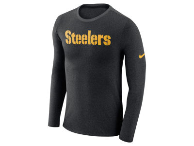 Pittsburgh Steelers Nike NFL Men's Marled Wordmark Long Sleeve T-Shirt
