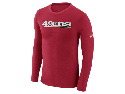 San Francisco 49ers Nike NFL Men's Marled Wordmark Long Sleeve T-Shirt