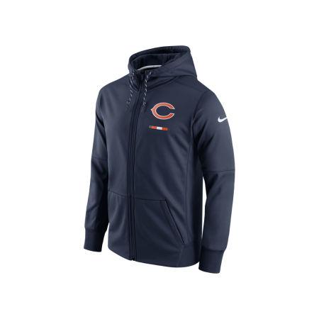 Chicago Bears Nike NFL Men's Therma Full Zip Hoodie