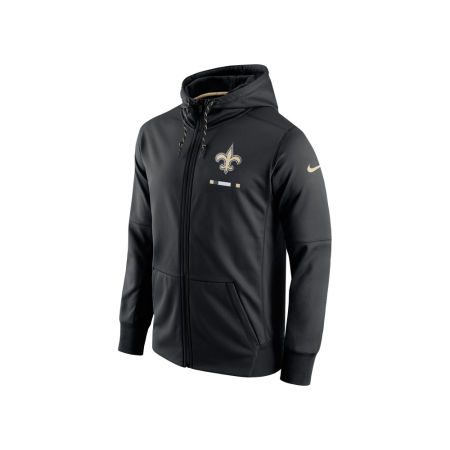 New Orleans Saints Nike NFL Men's Therma Full Zip Hoodie