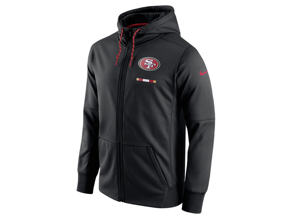 San Francisco 49ers Nike NFL Men s Therma Full Zip Hoodie  15eae1e18