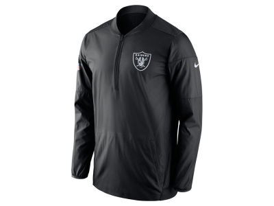 Oakland Raiders Nike NFL Men's Lockdown Quarter Zip Jacket