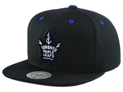 Toronto Maple Leafs Mitchell & Ness NHL Current Solid Velour Logo Snapback Cap