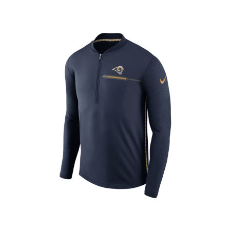 Los Angeles Rams Nike NFL Men's Coaches Quarter Zip