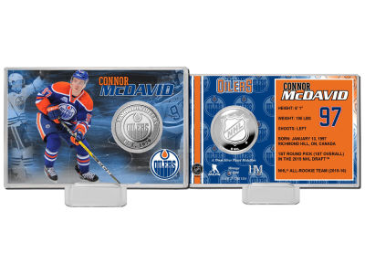 Edmonton Oilers Connor McDavid Coin Card - Player
