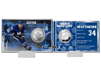 Toronto Maple Leafs Auston Matthews Coin Card - Player