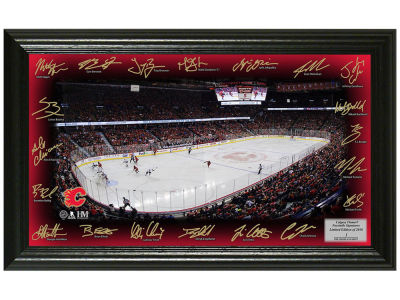 Calgary Flames 12x20 Signature Rink Mint