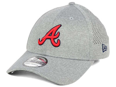 Atlanta Braves New Era MLB Heathered Perf Patch 39THIRTY Cap
