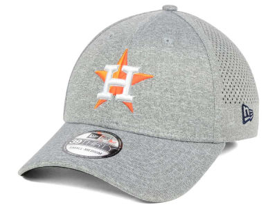 Houston Astros New Era MLB Heathered Perf Patch 39THIRTY Cap
