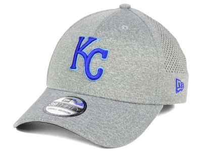 Kansas City Royals New Era MLB Heathered Perf Patch 39THIRTY Cap