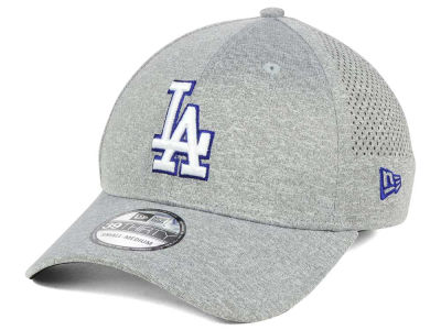Los Angeles Dodgers New Era MLB Heathered Perf Patch 39THIRTY Cap