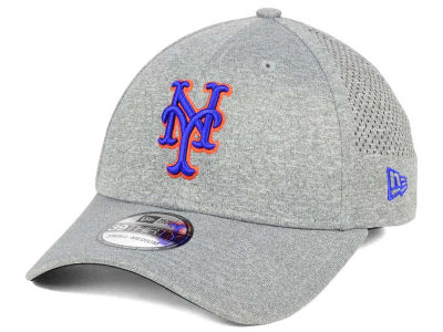 New York Mets New Era MLB Heathered Perf Patch 39THIRTY Cap
