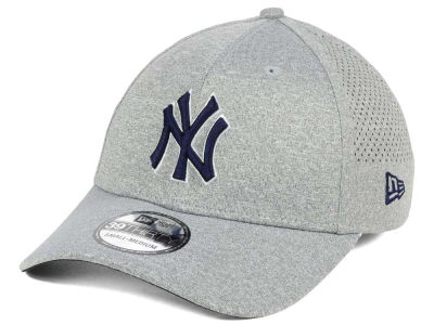 New York Yankees New Era MLB Heathered Perf Patch 39THIRTY Cap