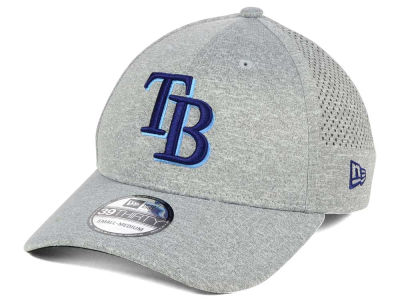 Tampa Bay Rays New Era MLB Heathered Perf Patch 39THIRTY Cap