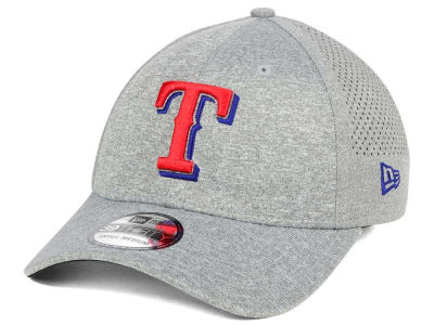 Texas Rangers New Era MLB Heathered Perf Patch 39THIRTY Cap
