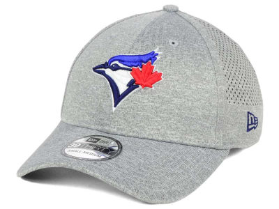 Toronto Blue Jays New Era MLB Heathered Perf Patch 39THIRTY Cap