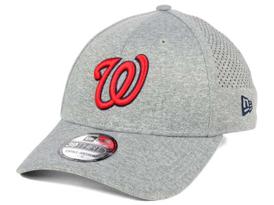 Washington Nationals New Era MLB Heathered Perf Patch 39THIRTY Cap