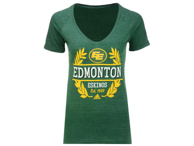 Edmonton Eskimos adidas CFL Women's Laurel Bar T-shirt