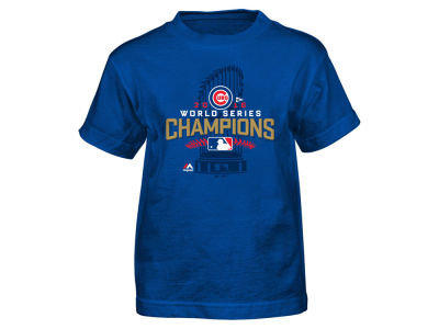 Chicago Cubs Majestic MLB Kids 2016 World Series Champ Locker Room T-Shirt