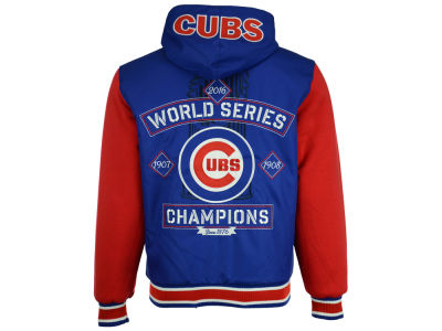 Chicago Cubs MLB Men's 2016 World Series Champ Hooded Rev Jacket