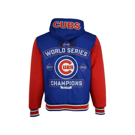 Chicago Cubs MLB Men's 2016 World Series Champ Hooded Rev Jacket