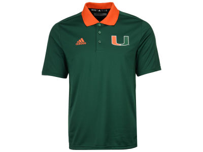 Miami Hurricanes adidas 2017 NCAA Men's Coaches Polo